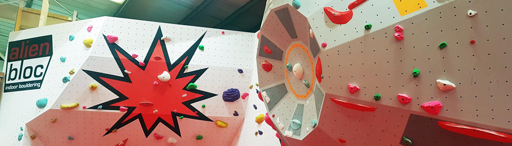 Death Star Indoor Bouldering Wall at Alien Bloc Edinburgh Dream Climbing Walls