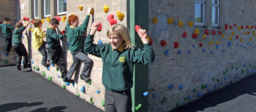 Dyke Primary School Climbing Wall, Moray