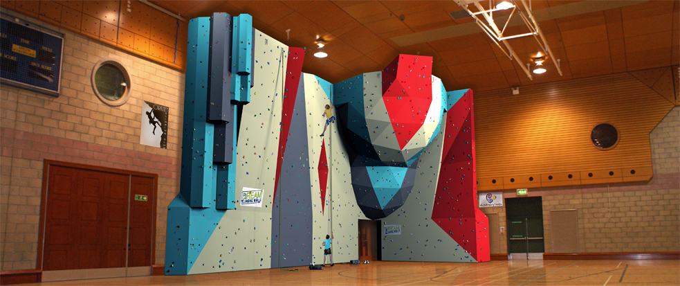 Indoor climbing wall at Orkney