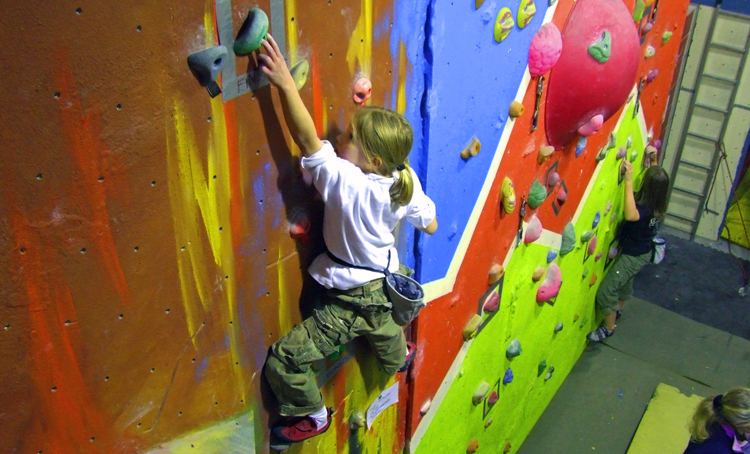 Rosie enjoying one of the climbs organised by Dream Climbing Walls