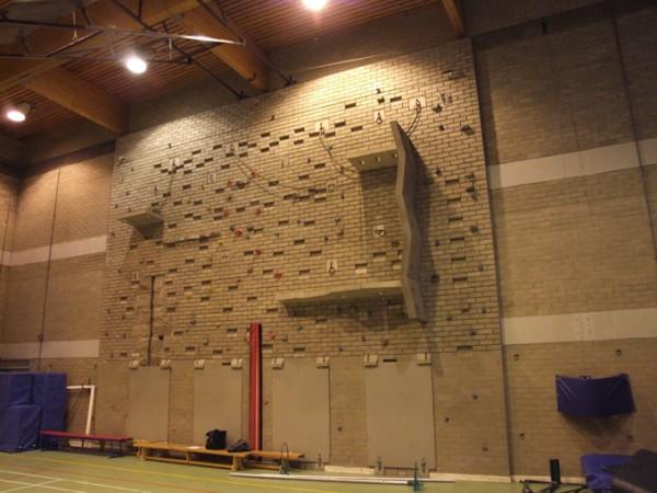 Existing Indoor Climbing Wall Speyside High School