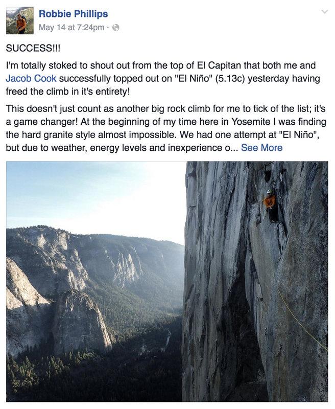 Robbie Phillips El Nino El Cap